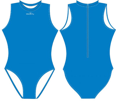 Women Waterpolo Swimsuit Waterfly Futura blue