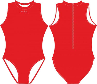 Women Waterpolo Swimsuit Waterfly Futura red