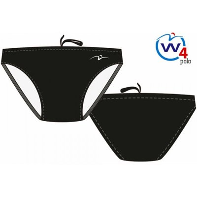 Men Waterpolo Swimsuit Waterfly Basic Black 80