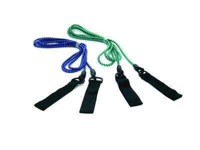 Epsan trekkoord / stretch cord met handvatten, junior/dames, blauw