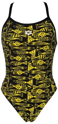 Arena W Fisk One Piece black/yellow-star 38