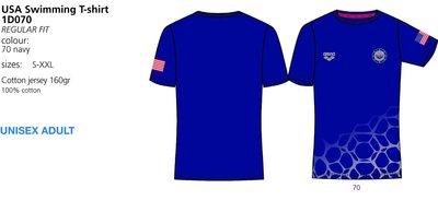 Arena Usa Swimming T-Shirt navy XL