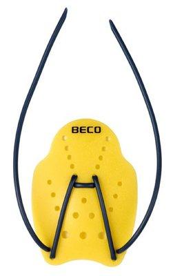 BECO Handpaddles, ergonomisch, maat S, geel