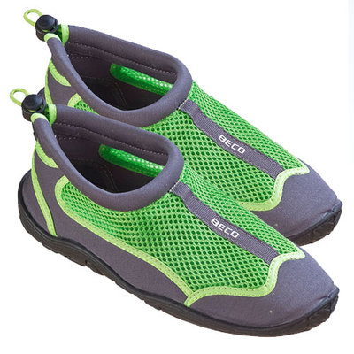 BECO Neopreen schoen beachwalker, grijs/groen, maat 43