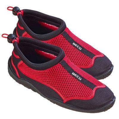 BECO Neopreen schoen beachwalker, zwart/rood, maat 43