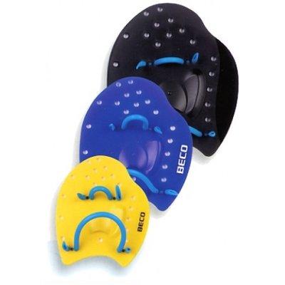BECO Handpaddles, hydronomisch, maat S, geel