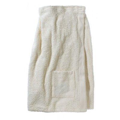 BECO Saunakilt voor dames, klittenband, zakje, ca. 77 cm, cr�me**