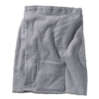 BECO Saunakilt voor heren, klittenband, zakje, ca. 54 cm, grijs**