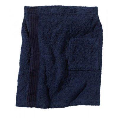 BECO Saunakilt voor heren, klittenband, zakje, ca. 54 cm, donker blauw