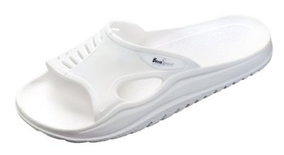BECO Sauna slipper met anti slip zool, wit, 37-38