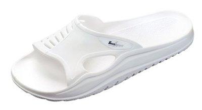 BECO Sauna slipper met anti slip zool, wit, 37-38