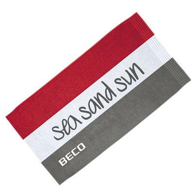 BECO Badlaken 100x180 cm, rood, sea sand sun