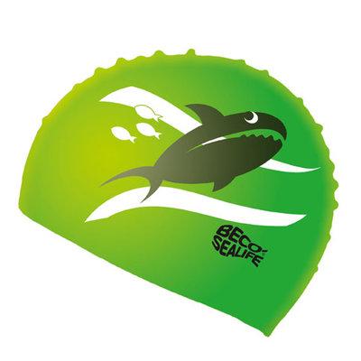 BECO Kinder badmuts, silicone, sealife, groen