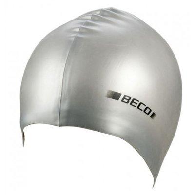 BECO Silicone badmuts metalic, zilver metalic