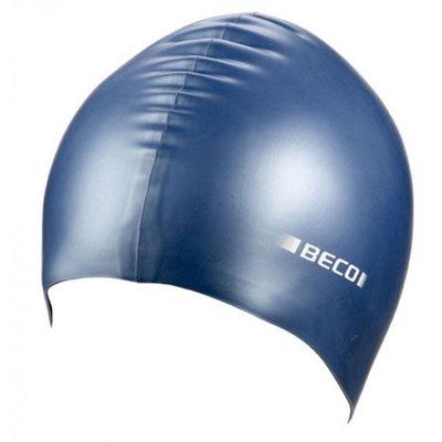 BECO Silicone badmuts metalic, blauw metalic