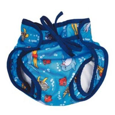 BECO Baby zwemluier, luier-vorm, dolfijntjes motief, blauw, maat M