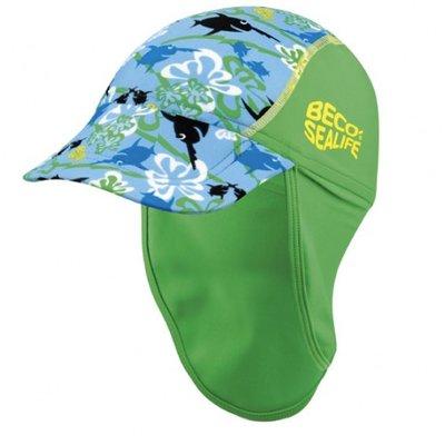 BECO Sealife zonnehoed, SPF 50+, maat 1, blauw-groen