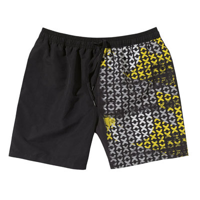 Beco zwemshort, zwart/wit/geel XL
