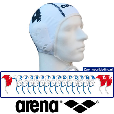 Arena Waterpolo Cap Teamset White 17