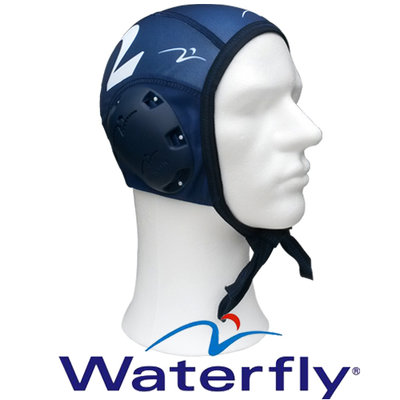 Waterfly Waterpolo Cap Top Polo Blue 2