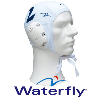 Waterfly Waterpolo Cap Top Polo White 3