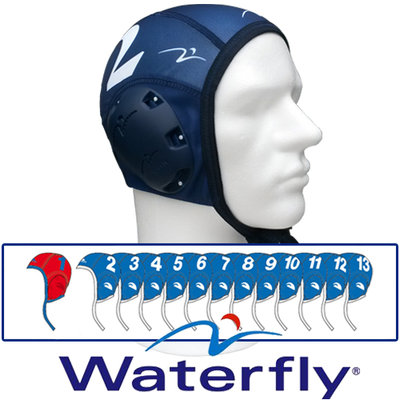 Waterpolo Cap Waterfly Teamset Blue(13pcs.)
