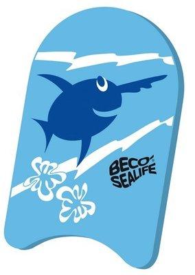 BECO Zwemplankje Sealife, pe-schuim, 34x21x3 cm, blauw