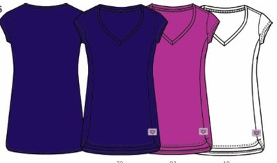 Arena W Essence V-Neck Tee rose-violet L