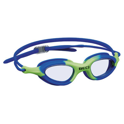 BECO Kinder en jeugd zwembril Biarritz, blauw/groen
