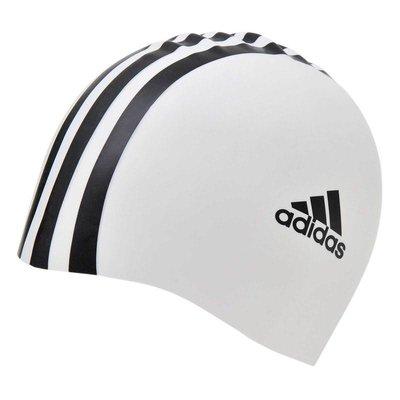 Adidas badmuts wit/zwart silicone