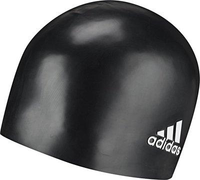 Adidas badmuts zwart/wit logo silicone