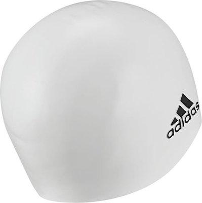 Adidas badmuts wit/zwart logo silicone