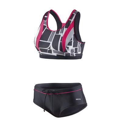 Beco Competition bikini, zwart/roze/wit FR46-D44-3XL