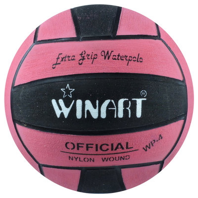 *Populair* Winart Dames / Jeugd waterpolobal maat 4 roze zwart roze