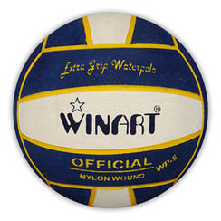 Winart waterpolobal Mini-polo maat 3 navy white navy