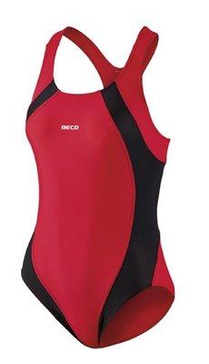 Beco badpak zwart/rood FR44-D42-2XL