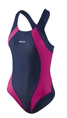 Beco badpak, donker blauw/roze FR38-D36-M