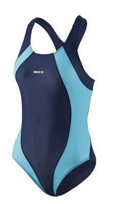 Beco badpak, donker blauw/turquoise FR44-D42-2XL