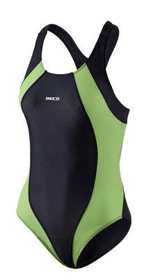 Beco badpak zwart/groen FR38-D36-M