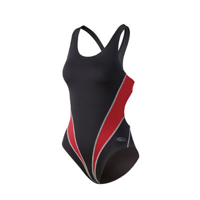 Beco Competition badpak, zwart/rood FR42-D40-XL