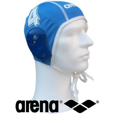Arena waterpolo cap blauw nummer 8 (mini/jeugd)