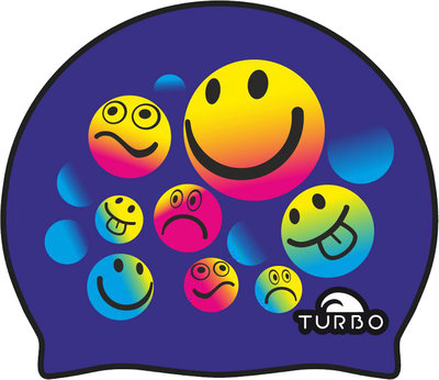 *Populair* Turbo silicone badmuts Smiling