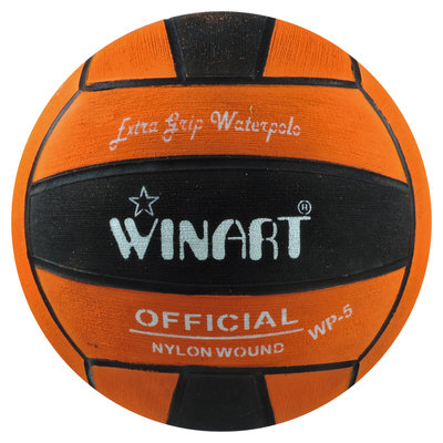 Winart waterpolobal dames maat 4 oranje-zwart