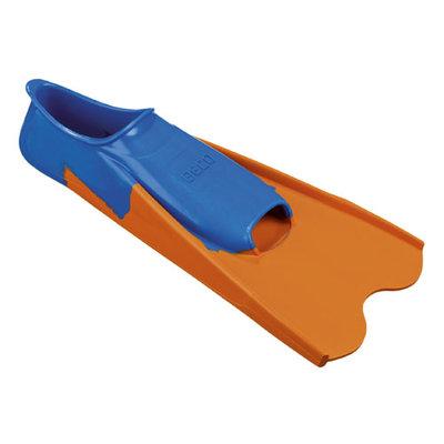 BECO Rubberen trainingsflipper, kort, blauw/oranje, maat 38-39