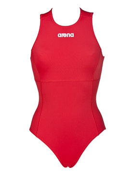 Arena W Solid Waterpolo One Piece red/white 46