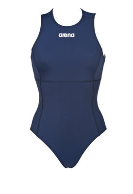 Arena W Solid Waterpolo One Piece navy/white 34