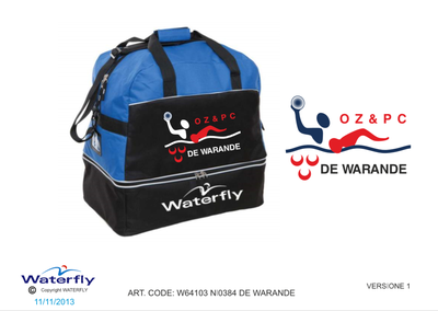 *Custom Design* De Warande Waterfly Zwemtas (Levertijd 4 tot 8 weken)