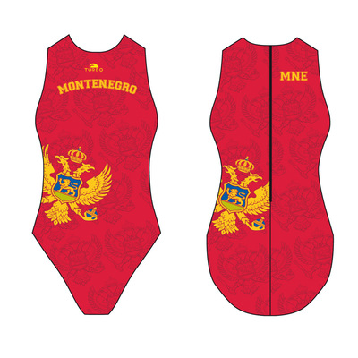 *Special Made* Turbo Waterpolo badpak Montenegro (levertijd 6 tot 8 weken)