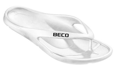*Outlet* BECO Heren teenslipper, eva, wit, maat 46