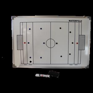 Groot waterpolo taktiekboard van 90 x 60 cm!